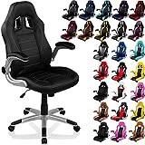"""RACEMASTER® """"GT Series"""" - Silla de escritorio/Gaming silla de despacho - Mecanismo de inclinación y elevación Homolación SGS - Disponible en 20 colores silla de oficina negro"""