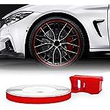 Bandes Wheel Trim Réfractifs pour les Jantes des Voitures, Rouge, 5 mm x 6 mt