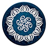 Acorn Carbon Fiber Carrom Striker (Navy Blue and White)
