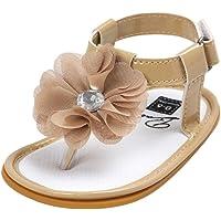 Minuya Infant Baby Girl Summer Sandals Soft Rubber Bottom Sandals Shoes