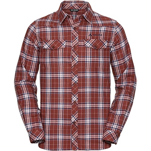 VAUDE Herren Algund Long Sleeve Shirt Cherrywood
