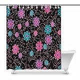 Zenzzle Badezimmer Duschvorhang, 60-* 70in hell mit Blumen Muster
