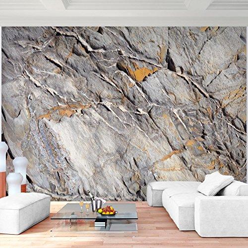 ... Fototapete Steinwand 3D Effekt Grau 396 X 280 Cm Vlies Wand Tapete  Wohnzimmer Schlafzimmer Büro Flur ...