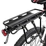 Enkrio accessori rack attrezzatura supporto Footstock portabici regolabile per bicicletta, posteriore della bicicletta reggisella, capacità 49,9kilogram, ENOT000043, Nero