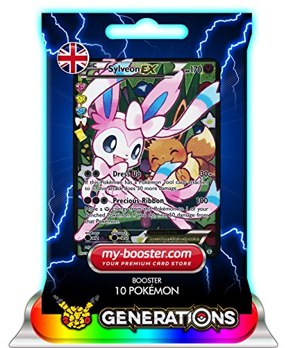 SYLVEON EX (Nymphali) Full Art RC32/RC32 170HP XY Generations - Booster de 10 cartes Pokemon anglaises my-booster