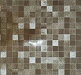 TooMeeCrafts badezimmer wc wasserdicht selbstklebende aufkleber mosaik fliesen tapeten ,braun