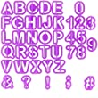 Chefarone Fondant Alphabet Cutters for Cake Decorating - 40 Pcs - Cake Letter Cutters - Icing Cutout Decorating Set