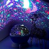 LED Nachtlicht -Elecstars Nachtlampe Sternenhimmel Projektor Lamp Bedside Schlaflicht für Baby & Kinders Schlafzimmer Romantische Geschenke für Frauen (blau)