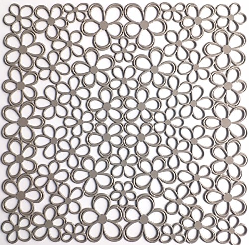 IFC Papillon C.V. évier de Cuisine Tapis de Protection - Fleur, Plastique, Taupe, 31.5x31.5 cm.