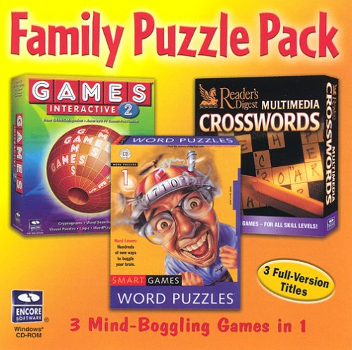 Family Puzzle Pack 3-in-1 (Crosswords, Word Puzzles, Games) (Family Word Games)