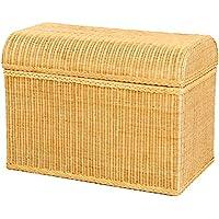 Preisvergleich für korb.outlet Truhe/Wäschetruhe aus Rattan mit Rundem Deckel in der Farbe Honig
