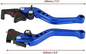 Duokon Bremshebel Motorrad 1 Paar 22mm 7 8 Cnc Aluminium Motorrad Kupplungshebel Bremshebel Universalbremshebelgriff Blau Auto