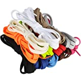 nuoshen 12 Pairs Flat Colored Shoelaces, 120 cm / 47.24 inch Durable Shoestrings Replacement Shoe Laces for Sneakers Sport Sh