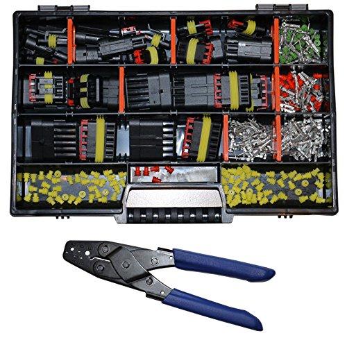 AMP Superseal Starter Set Stecker 1-6-pol m. Crimpzange Auto KFZ LKW