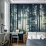 Tapisserie Photo Forêt 352 x 250 cm Laine papier peint Salon Chambre Bureau Couloir décoration Peinture murale décor mural moderne - 100% FABRIQUÉ EN ALLEMAGNE - 9326011a