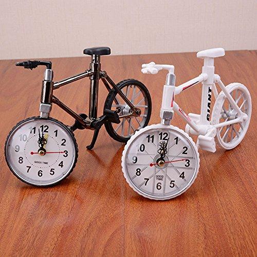 EQLEF® 1 Stück Kreative Uhr mit Zwei Rädern Fahrrad Geburtstagsgeschenk Schüler Fertigkeiten personifizierte Wecker