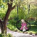 Relaxdays Korbschaukel, Kinder und Erwachsene, Hängeschaukel mit Sitzlehne, 150 kg, Outdoor, Ø75cm, verstellbar, schwarz von Relaxdays auf Gartenmöbel von Du und Dein Garten