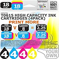 T0615 16 Pack T0615 Our Capacity Bk 18ml Colours 18ml