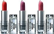 Lakme Enrich Matte Lipstick, Shade PM14, 4.7g+ Shade RM14, 4.7g+ WM10, 4.7g