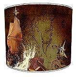 20,3cm Deckenleuchte Vintage maritim segeln Nautisches Thema Print Lampenschirm 1, 20 cm