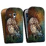 DeinDesign Samsung Galaxy S3 Mini Tasche Hülle Flip Case Eule Wald Forest