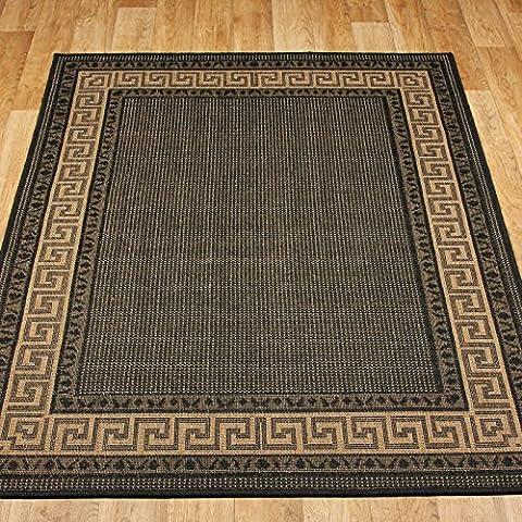 Tappeto Tappeto Antiscivolo greca in Nero 160x 225