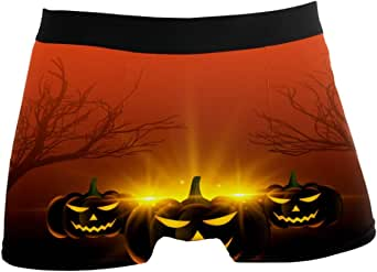 NO Happy Halloween Festival Mens Boxer Brief Shorts Underwear Breathable Stretchy Swim Trunks Gifts for Youth Boys