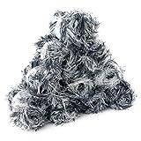 maDDma ® 10 x 50g Effektgarn Fransen-Wolle Lea Fransen-Strickgarn Strickwolle, Tolle Farben, Farbe:Schwarz weiß Grau