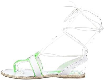 Nat 2 n2TINGLEwhgW Zehentrenner Sandalen Leder white green
