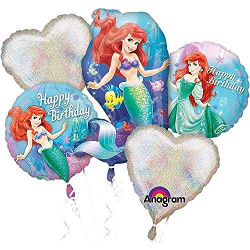 Little Mermaid Birthday Bouquet of Balloons