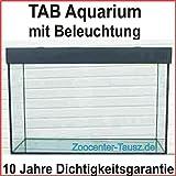TAB Aquarium Kombination mit Beleuchtung / Aquarium 150x60x60 cm / 540L. / Glas 10mm / Bel. 2x54 Watt