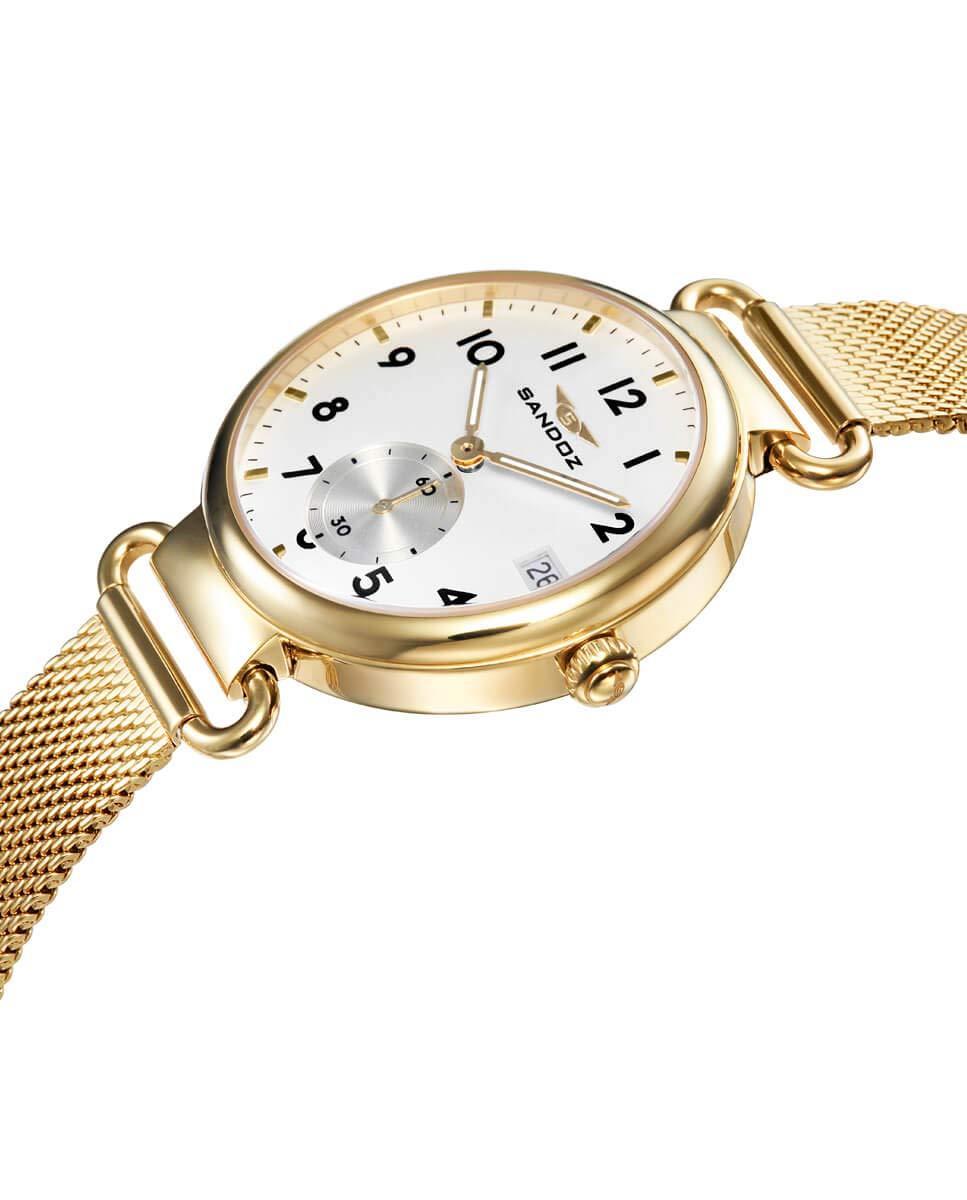 Sandoz – Reloj Acero IP Dorado Brazalete Sra Antique Sa – 81360-04