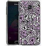 Samsung Galaxy A3 (2016) Housse Étui Protection Coque Fleur Motif Motif