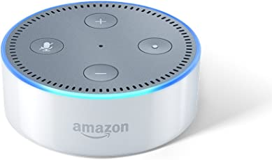 Echo Dot - Voice control your music, Make calls, Get news, weather & more - White