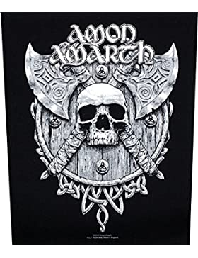 Amon amarth espalda parche Skull & Axes Back parches