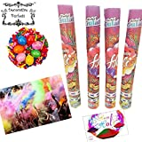DECORATIVE BUCKETS :Holi colours : magic colour : GULAL BLASTER PACK OF TWO TUBES WITH PACK OF HOLI BALLOONS & HAPPY HOLI MESSAGE CARD : COMBO OF 4 : COLOUR SHOOTER: SPREAD THE COLOUR IN AIR : holi color gun :NON TOXIC holi colors : herbal gulal|colour smoke