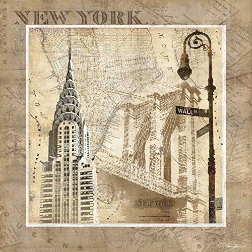 Keith Mallett - New York Serenade Kunstdruck (30,48 x 30,48 cm) -
