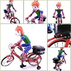 Supermall New 2017 Battery Operated Foldable Bicycle Toy