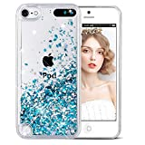 Funda iPod Touch 5/6th, Wuloo Liquid Glitter Funda Bling Lindo de la Chispa Flotante Caso...