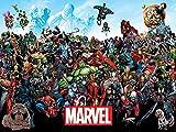 Marvel Comics Universe stampa su tela, multicolore, 60x 80cm