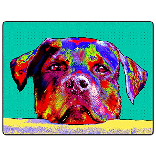 tslook Colorful Hund Art Home Welcome Fußmatte Teppich, Polyester, 30