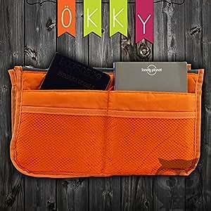 OKKY© l'Original Organisateur/Pochette/sac de rangement int'rieur pour grand sac ... main ou sac de voyage couleur Corail (existe aussi en Gris/Vert/bleu ans notre boutique)