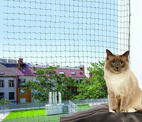 Red protectora para gatos hilo metalico TRIXIE oliva-verde