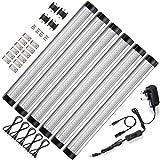 ustellar LED Unter Schrank Beleuchtung 6Panel Kit, 24W Total, 12V DC, 1800lm, 12in Unter Zähler Beleuchtung, Schrank Licht, entspricht 48W Leuchtstoffröhre, Zubehör enthalten, 3000K Warm Weiß