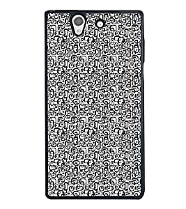 HiFi High Glossy Designer Phone Back Case Cover Sony Xperia Z :: Sony Xperia ZC6603 :: Sony Xperia Z L36h C6602 :: Sony Xperia Z LTE, Sony Xperia Z HSPA+ ( Black and White Design Pattern )