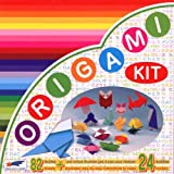 Origami Paper - Origami Kit 24 models - Illustrated instructions + 82 sheets of origami paper - 15cm x 15cm