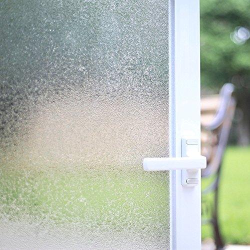 FANCY-FIX Milchglas Fensterfolie Statische Sichtschutz-Folie | selbsthaftend (ohne Kleber) | 60x150cm