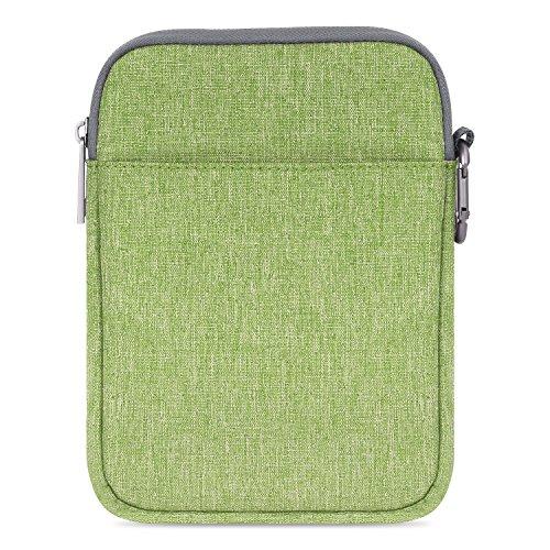 MoKo Kindle Paperwhite / Kindle Voyage Sleeve Hülle - Tragbare Nylon Schutzhülle Tasche für Amazon Kindle Paperwhite / Voyage /6 inch Kindle Oasis / Kindle 8. / HD 6 6 Zoll, Grün (Amazon Fire Handy Ohrhörer)