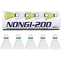 NONGI 200 Plastic Badminton Shuttlecock Pack of 5