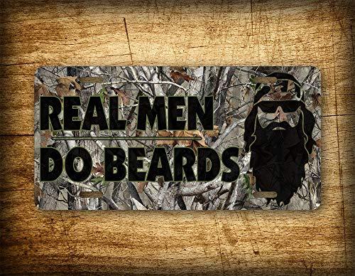 n Do Beards Nummernschild Enten-Dynastie Motto Commander Camo Bart Auto Tag 6x12 Aluminium Schild Hillbilly Redneck ()